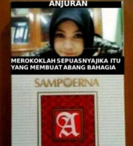foto lucu anjuran merokok