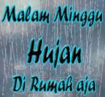 gambar kata kata galau malam minggu hujan