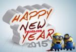 gambar ucapan selamat tahun baru lucu 2015