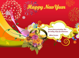 greting happy new year for your hasben