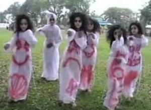 hantu lagi latihan menari