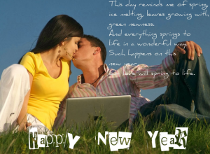 hapy new years greting and merry cristmas romantic