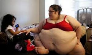 foto wanita yang sangat gemuk