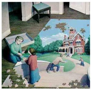 gambar manipulasi penglihatan mata, sebuah karpet 3 dimensi