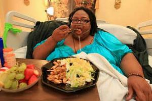 gambar porsi makan orang yang gemuk