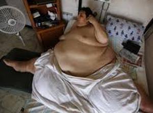 gambar pria yang sangat gemuk.
