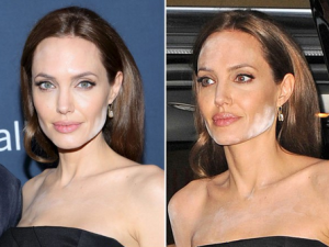 Angelina Jolie's Changing Looks  because makeup
