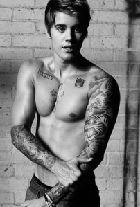justin Bieber Shirtless Men's Health Cover