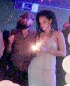 photos of Leonardo DiCaprio joining Rihanna at her birthday