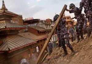 earthquake in Kathmandu, Nepal