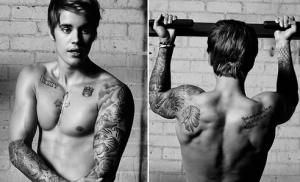 the new face , hair and body of Calvin Klein underwear