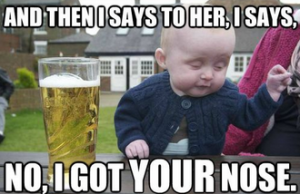 funny Pictures Of Babies wisky With Captions