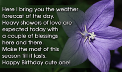 Cute Happy Birthday Message for a Friends