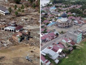 Kemajuan pembangunan aceh setelah tsunami