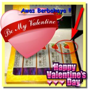 Permen cinta Berbahaya di malam Valentine