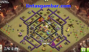 base war anti serangan darat dan udara di clan war