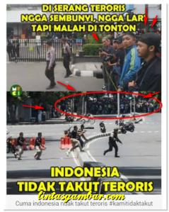Lucu Foto-foto Meme Teror Bom di Sarinah