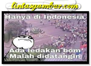 Meme Lucu Bom Sarinah Karna Indonesia Tidak Takut Teroris