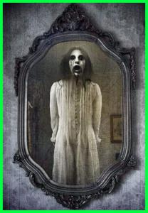 gambar hantu cermin yang suka menggoda orang yang suka bersolek