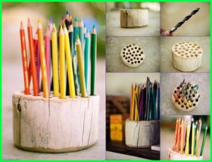 kamu bisa membuat bekas menjadi tempat pensil indah kamu di kamar