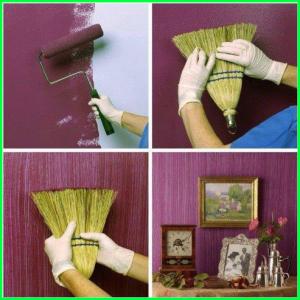 sapuh bekas bisa di sulap menjadi kuas besar untuk menganti warna cat kamu