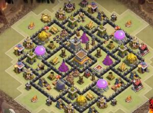 Susunan base Terbaik untuk th8 war clans