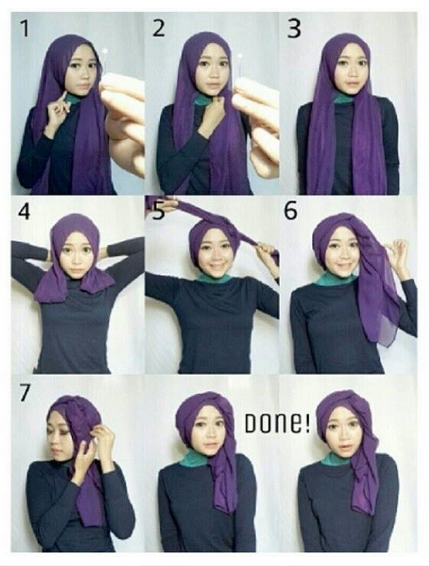 tutorial hijab cantik untuk menghadiri pesta
