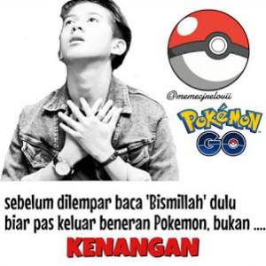 Gambar2 Meme Lucu gokil Pokemon Go