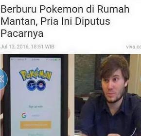 Meme Lucu Pokemon Go di rumah mantan