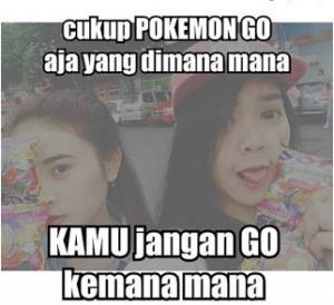 Meme Lucu Pokemon Go romantis