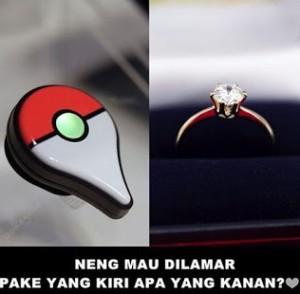 Meme Lucu Pokemon Go tentang tunangan