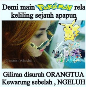 Meme sindiran Lucu Pokemon Go