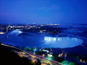 NiagaraFallsAtNightOntarioCanada